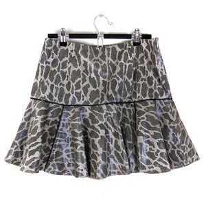 NWOT English Rose Snakeskin A-line Skirt Large